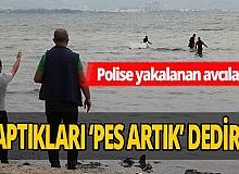 Kaçak midye avcıları polisi görünce öyle bir şey yaptılar ki...