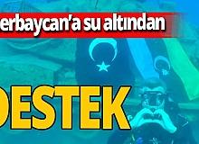 Kaş'tan Azerbaycan'a 15 metre derinlikte destek