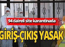 Kırklareli'nde bir site karantina altına alındı