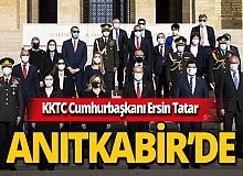 KKTC Cumhurbaşkanı Ersin Tatar, Özel Anıtkabir Defteri'ni imzaladı