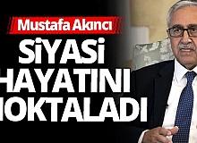 KKTC Cumhurbaşkanlığı seçimlerini kaybeden Mustafa Akıncı siyaseti bıraktı