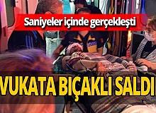 Konya'da avukata bıçaklı saldırı!