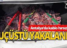 Korkuteli'nde kablo fareleri tutuklandı