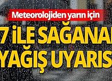 Meteoroloji'den kritik yağış uyarısı!