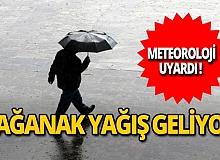 Meteoroloji'den Marmara ve Karadeniz için sağanak yağış uyarısı