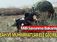 """MSB: """"PKK'ya ait silah ve mühimmatlar ele geçirildi"""""""