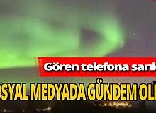 Norveç'te Kuzey ışıklarının zaman atlamalı görüntüsü rekor kırdı