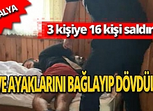 Otel sahibi kiracısını turistlerin önünde dövdürdü