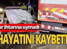 Polisten kaçan sürücü hayatını kaybetti