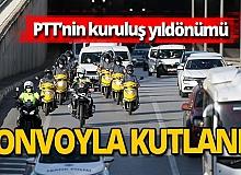 PTT'nin 180'inci yıldönümü konvoyla kutlandı