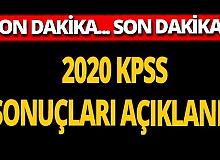 Son dakika... 2020 KPSS sonuçları açıklandı