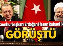Son dakika! Cumhurbaşkanı Erdoğan ile İran Cumhurbaşkanı Ruhani arasında önemli görüşme