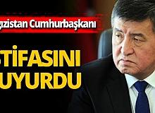 Son dakika! Kırgızistan Cumhurbaşkanı Sooronbay Ceenbekov istifa etti!