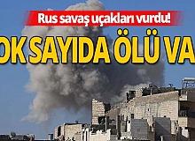Son dakika: Rus savaş uçakları İdlib'de Suriye Milli Ordusu güçlerini vurdu!