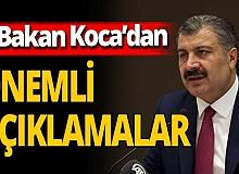 Son dakika! Sağlık Bakanı Fahrettin Koca'dan önemli açıklamalar