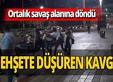 Taksim Meydanı'nda tekme tokat kavga!