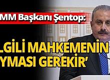 TBMM Başkanı Şentop'tan AYM'nin Berberoğlu kararı hakkında açıklama