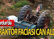 Traktörü devrilen kadın can verdi