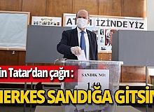 UBP Cumhurbaşkanı adayı Ersin Tatar oyunu kullandı