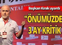 Türk Kızılay Genel Başkanı Kerem Kınık'tan kritik pandemi uyarısı