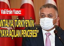 """Vali Ersin Yazıcı: """"Antalya'yı marka değerine yakışır bir hale getirmeliyiz"""""""
