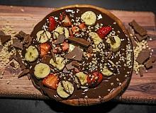 Yepyeni bir lezzet; çikolata pizza üretti