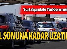 Yurt dışında yaşayan Türkler için müjde!