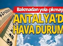 16 Kasım 2020 Antalya'da hava durumu!