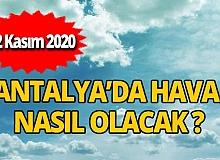 22 Kasım 2020 Antalya hava durumu