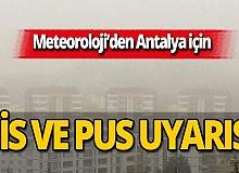 24 Kasım 2020 Antalya'da hava durumu