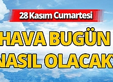 28 Kasım 2020 Antalya hava durumu