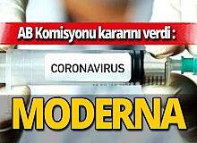 AB Komisyonu Moderna ile anlaşma sağladı