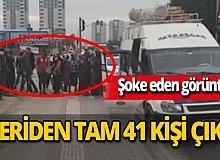 Adana'da durdurulan 14 kişilik minibüsten 41 kişi çıktı
