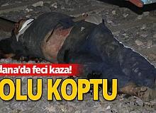 Adana'da yük treni kolunu kopardı