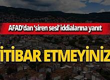 """AFAD açıkladı: """"İddialar gerçeği yansıtmıyor"""""""