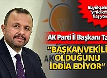 """AK Parti Antalya İl Başkanı İbrahim Ethem Taş: """"23 Kasım'a kadar Başkanvekilliği Sn. Oktay Başaran'dadır"""""""