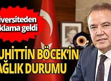 Antalya Büyükşehir Belediye Başkanı Muhittin Böcek'in fizik tedavi süreci devam ediyor
