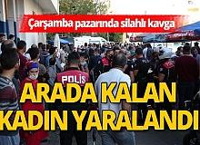 Antalya Çarşamba pazarında silahlı kavga