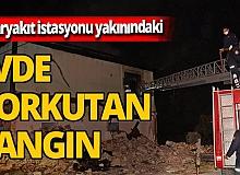 Antalya'da akaryakıt istasyonu yakınındaki metruk evde yangın