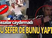 Antalya'da cezaların caydırmadığı kişi şimdi de pipetle içerken görüntülendi