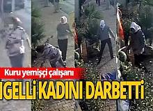 Antalya'da engelli kadını darbetti!