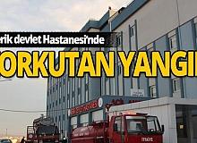 Antalya'da hastanenin çatı katında korkutan yangın