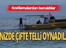 Antalya'da karada eğlenemeyen gençler, denize açıldı