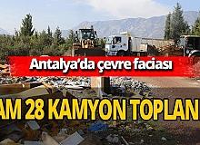 Antalya'da ormandan 28 kamyon çöp toplandı