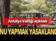 Antalya'da sahilde piknik yapmak yasaklandı