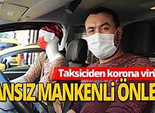 Antalya'da taksiciden ilginç önlem!