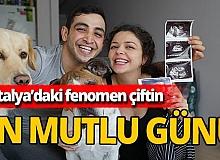 Antalya'da yaşayan Yotuber Melis ve Volkan Alaei çiftinin bebekleri Arel doğdu