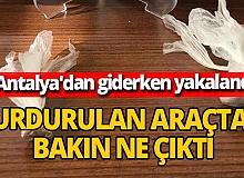 Antalya'dan Konya'ya giderken durdurulan araçta eroin yakalandı