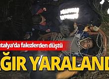 Antalya falezlerde ölüm kalım savaşı