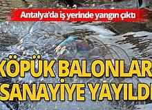 Antalya sanayide iş yeri yangını